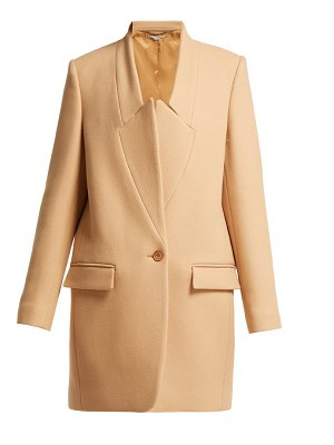 Stella McCartney bryce inverted lapel wool coat