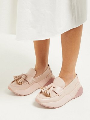 Stella McCartney faux leather flatform loafers