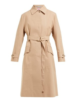 Stella McCartney single breasted cotton trench coat
