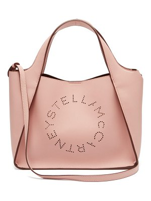 Stella McCartney stella perforated logo faux leather tote bag