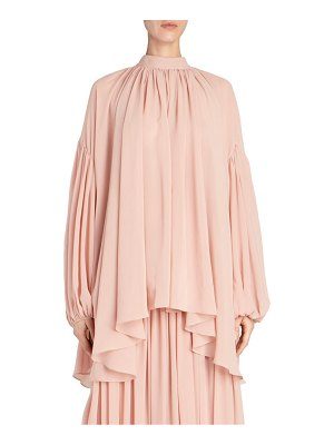 Stella McCartney tanya silk georgette peasant blouse