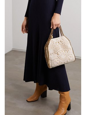 Stella McCartney the falabella mini crocheted cotton shoulder bag