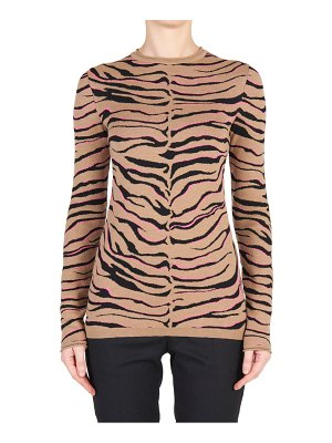 Stella McCartney tiger stripe virgin wool sweater