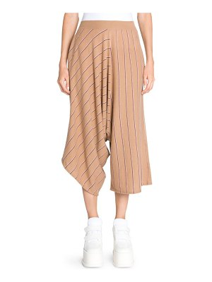 Stella McCartney wool pinstripe knit asymmetric pants