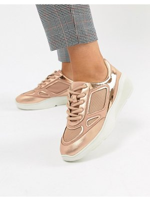 Steve Madden current rose gold sneaker