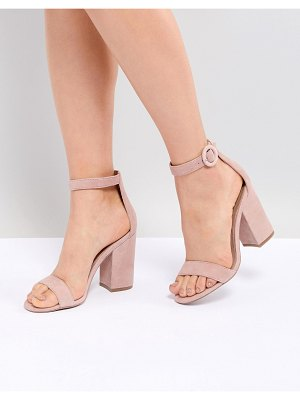 Steve Madden Friday Suede Buckle Heeled Sandals