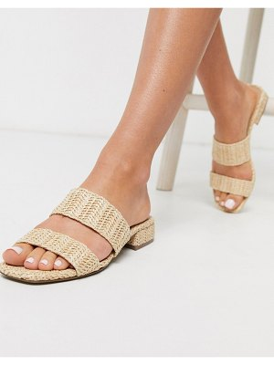 Steve Madden jaron flat sandals in raffia-tan