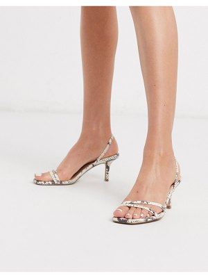 Steve Madden loft strappy heeled sandals in beige snake