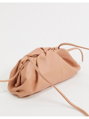 Steve Madden necture slouchy clutch bag in tan