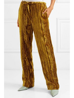 Stine Goya aileen crushed-velvet pants