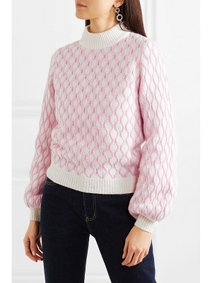 Stine Goya carlo cable knit wool-blend sweater
