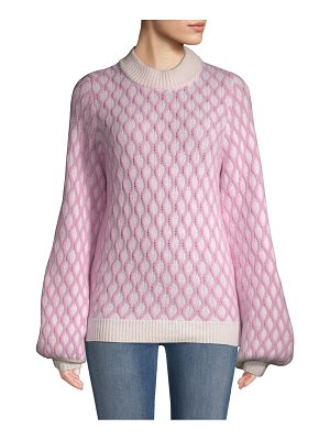 Stine Goya carlo two-tone patterned sweater