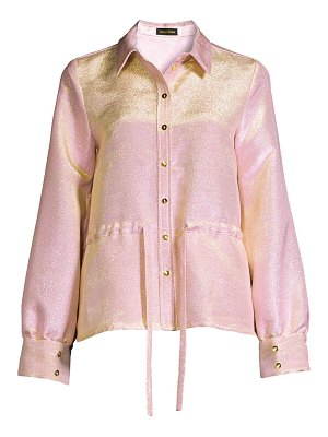 Stine Goya faith glitter peplum shirt jacket