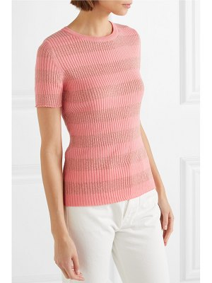 Stine Goya pablo striped ribbed cotton-blend top