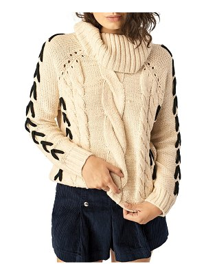 STONE ROW mad metallix cable sweater