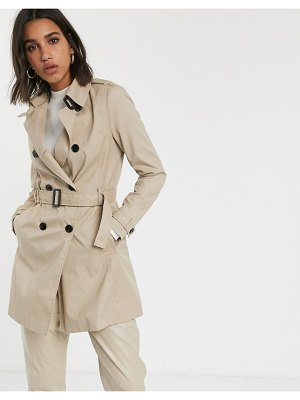 Stradivarius basic trench in light beige