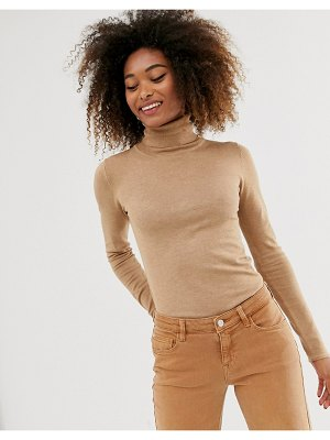 Stradivarius basic turtleneck in beige