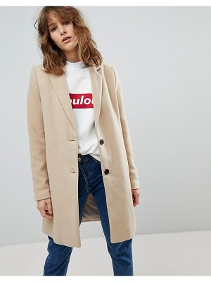 Stradivarius camel tailored coat
