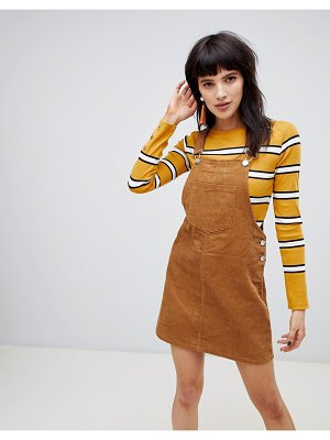Stradivarius cordoroy overall dress