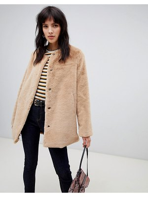 Stradivarius faux fur coat
