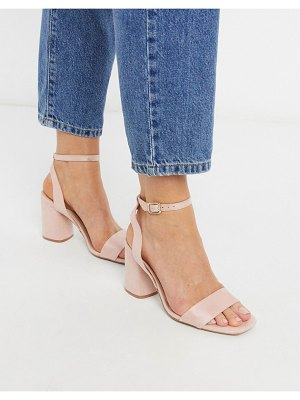 Stradivarius heeled sandal in pink