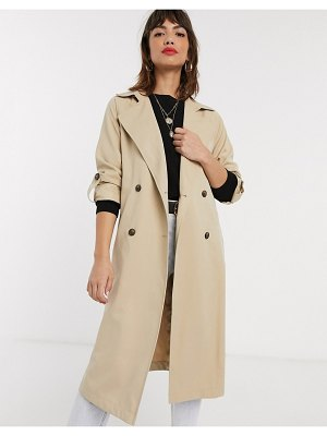 Stradivarius long flowy trenchcoat in beige