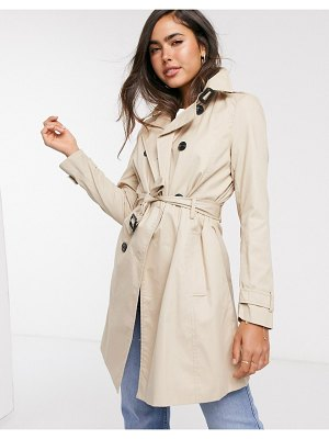 Stradivarius midi trench coat in beige