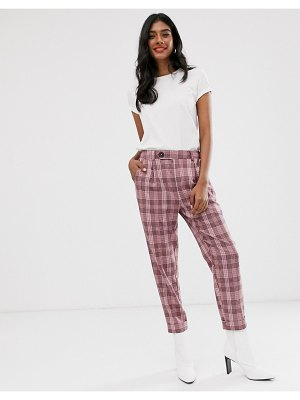 Stradivarius pants in pink check