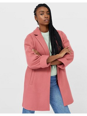 Stradivarius recycled polyester tailored coat in pink