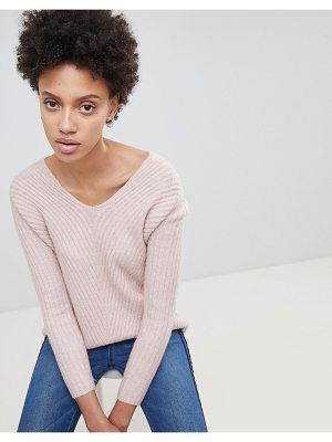 Stradivarius rib v neck sweater