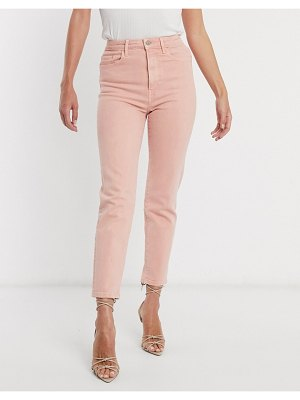 Stradivarius slim mom jean with stretch in pink