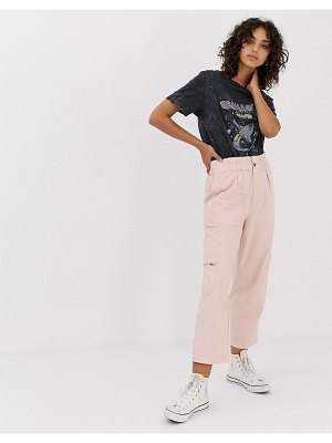 Stradivarius str paperbag wide leg utility pants