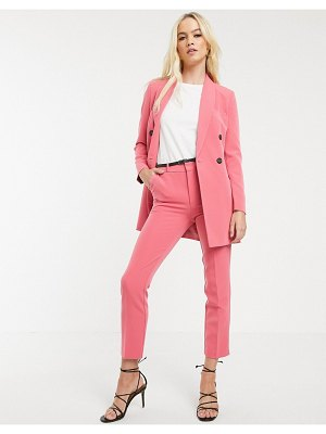Stradivarius tailored pants with belt in pink