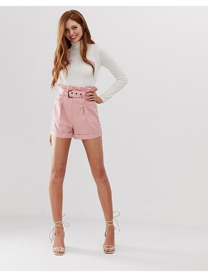 Stradivarius utility shorts in pink