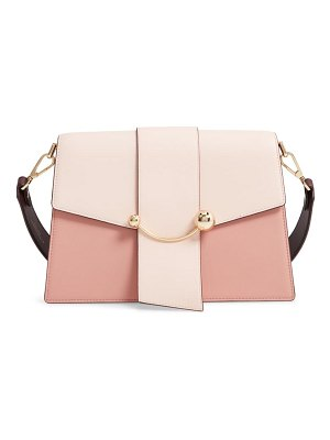 STRATHBERRY crescent colorblock leather shoulder bag