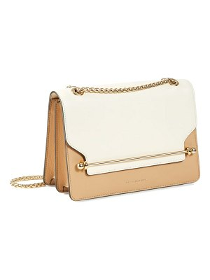 STRATHBERRY east/west bicolor leather crossbody bag