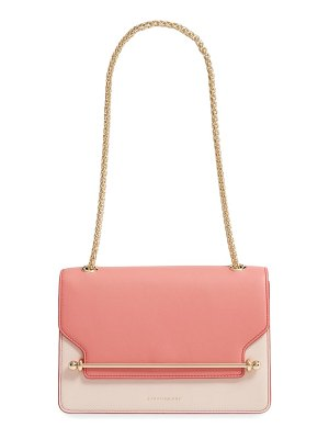 STRATHBERRY east/west colorblock leather shoulder bag