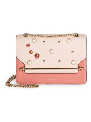 STRATHBERRY east/west faux pearls leather shoulder bag