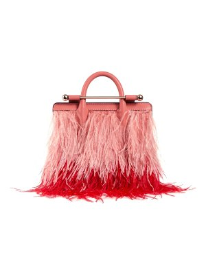 STRATHBERRY nano feather & leather tote