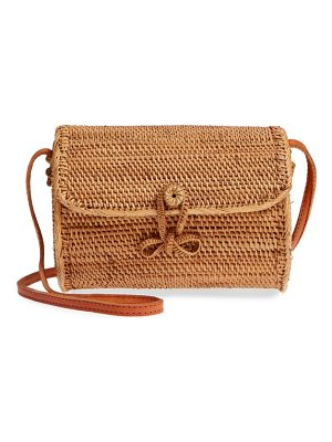 STREET LEVEL Cylinder Woven Crossbody Bag