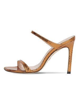 Stuart Weitzman 100mm snake print leather sandals