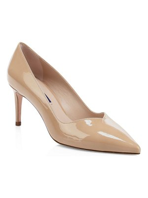 Stuart Weitzman anny patent leather point toe pumps
