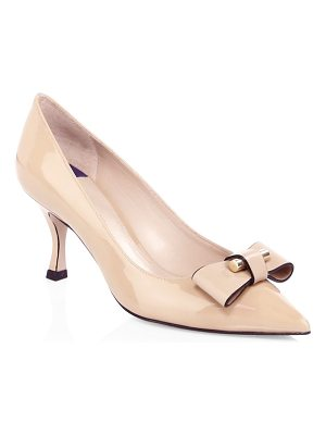 Stuart Weitzman belle bow leather pumps