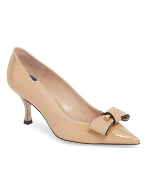 Stuart Weitzman belle pointe bow pump