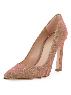 STUART WEITZMAN Chicster Sparkle Point-Toe Pump