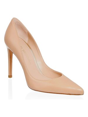 Stuart Weitzman curvia leather pumps