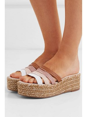 Stuart Weitzman elinore woven leather espadrille sandals