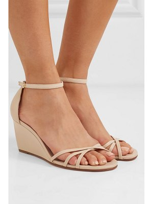 Stuart Weitzman estarla leather wedge sandals