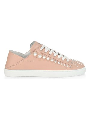 Stuart Weitzman goldie convertible embellished leather sneaker