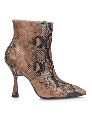Stuart Weitzman melena snakeskin-embossed leather ankle boots